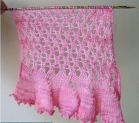 围益美围巾的织法图解