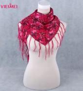蝴蝶三角巾 红