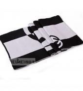 圆圈方格男士围巾-黑白
