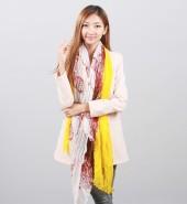 花朵长围巾 黄