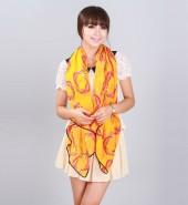 鸟巢绒雪纺方巾 橙色