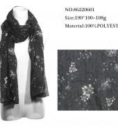 野花长围巾 黑色